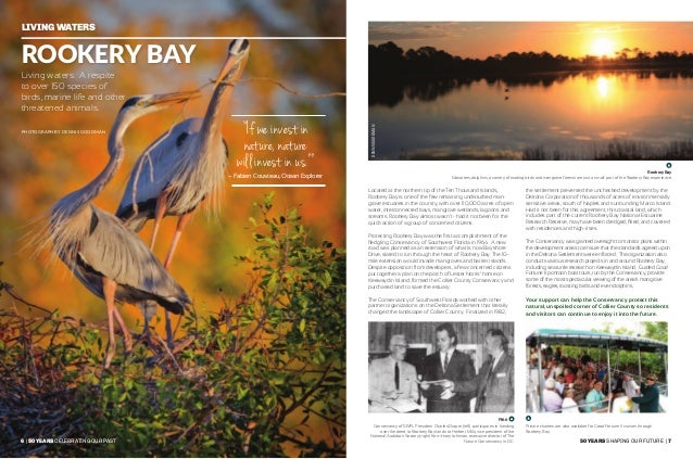 8   50 years celebrating our past 50 years shaping our future   9 healthy waterways Pelican Bay and Clam Pass Concerned re...
