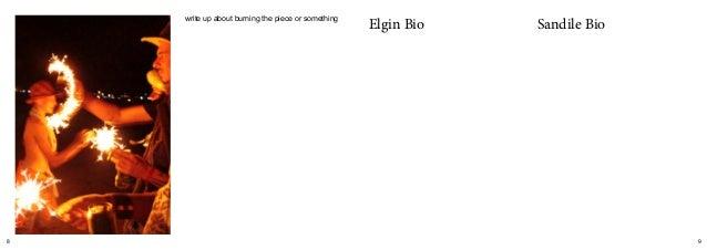 8 9 write up about burning the piece or something Elgin Bio Sandile Bio