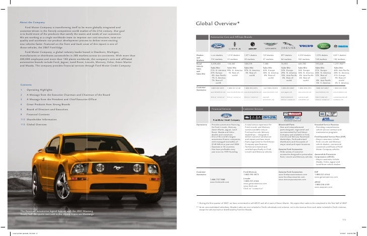 ford motor annual report
