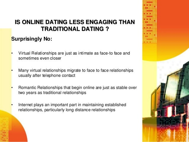 Online dating vs traditional dating powerpoint