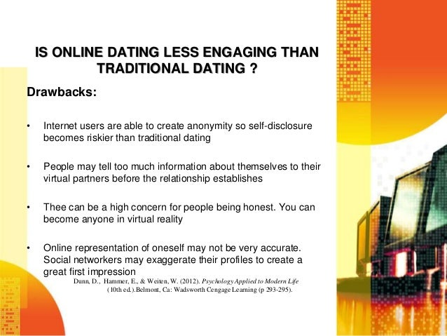 Dating sites drawbacks