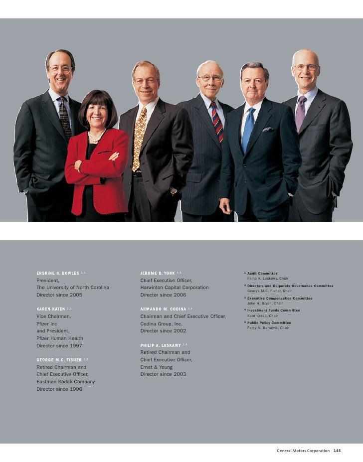 Gm 2005 Annual Report Board Of Directors