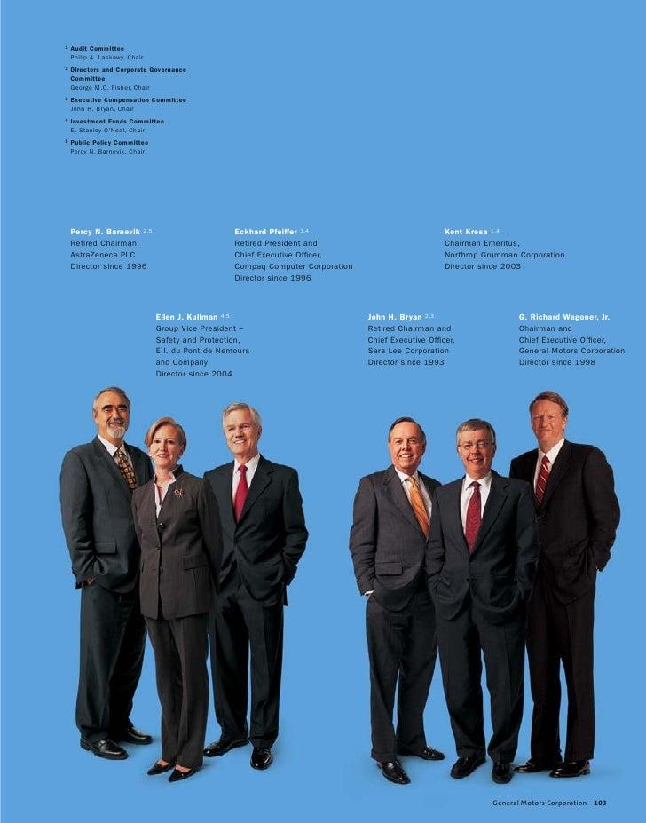 Gm 2004 Annual Report Board Of Directors