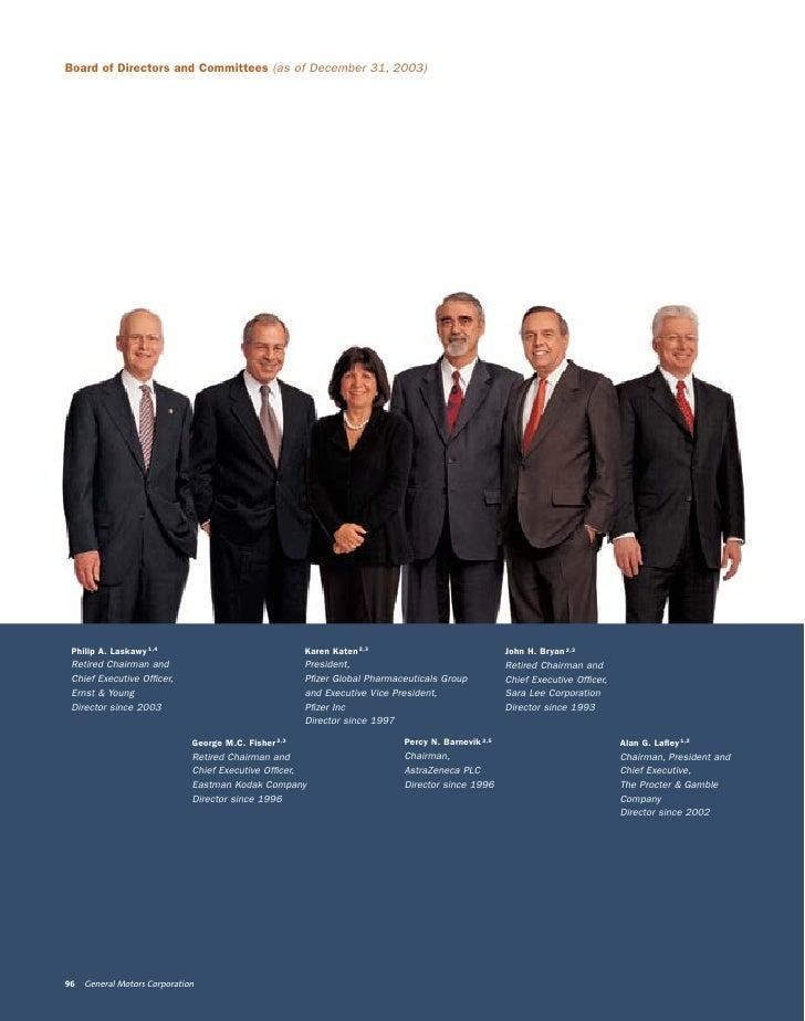 Board of Directors and Committees (as of December 31, 2003)      Philip A. Laskawy 1,4                                 Kar...