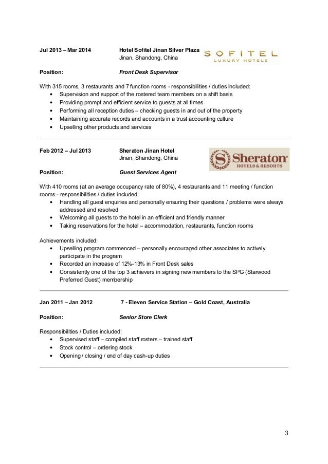 Front Desk Supervisor Resume Hostgarcia Voluntary Action Orkney  Front Desk Supervisor Resume
