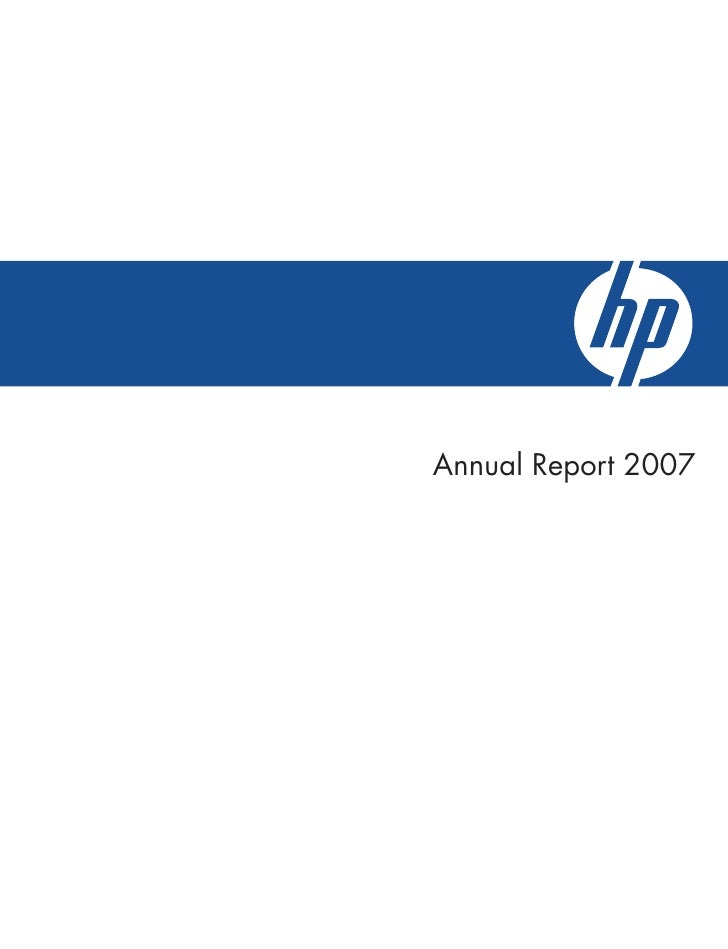 hp annual report