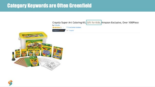#3 – Include Top Searched Terms in TitleCategory Keywords are Often Greenfield