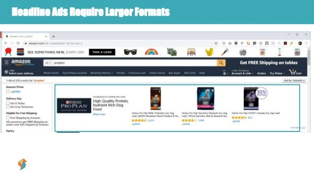Headline Ads Require Larger Formats