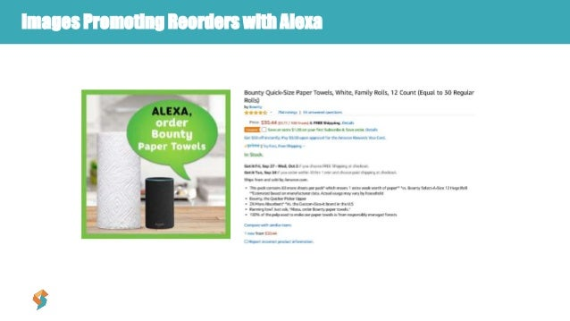 Images Promoting Reorders with Alexa
