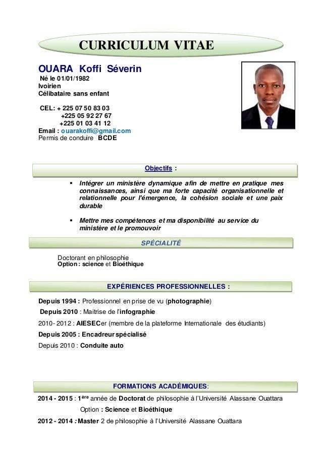 Cv Ivoirien