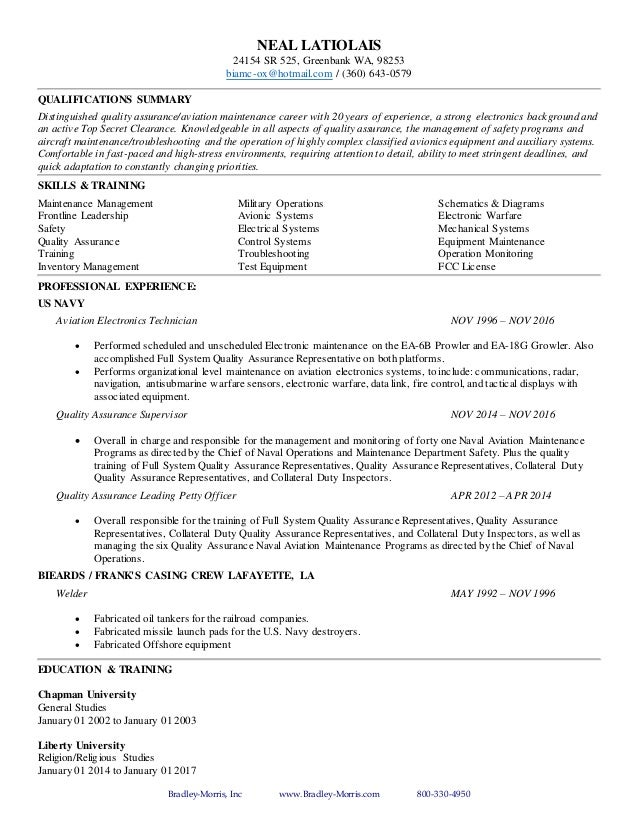 aviation resume