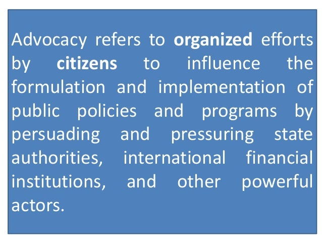 Why Engage in Advocacy?