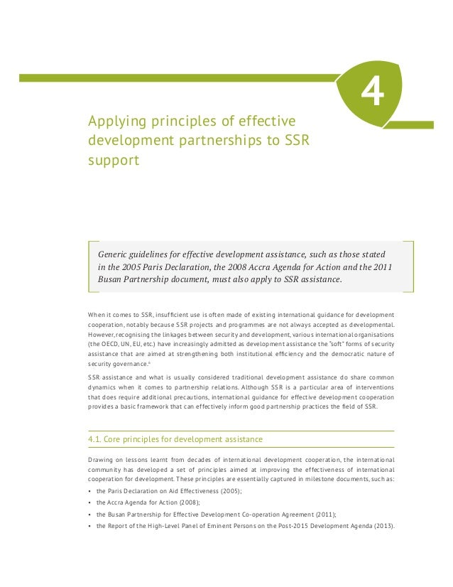 Effective Management Of External Support To Security Sector Reform We