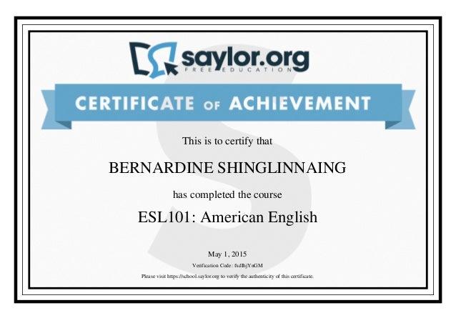 esl certificate proxima