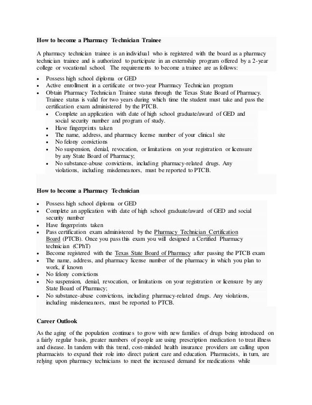 cover letter for cvs pharmacy technician trainee