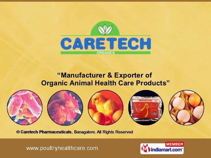 """ Manufacturer & Exporter of  Organic Animal Health Care Products"""