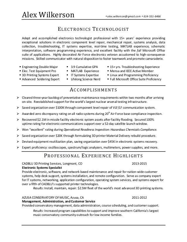 jpl intern resume 28may2015