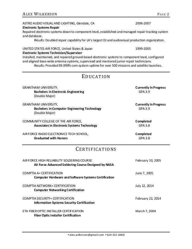 Jpl Intern Resume 28may2015