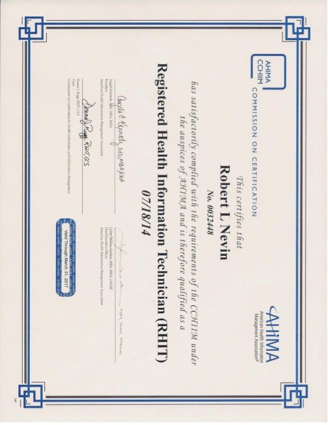 rhit nevin certification robert slideshare upcoming