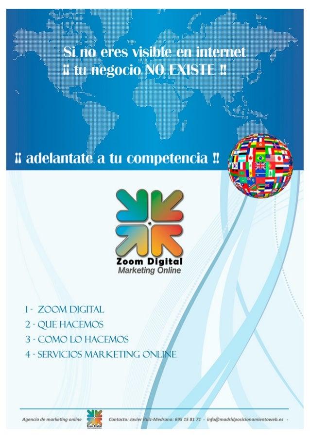 Catalogo ZOOM DIGITAL Agencia Marketing Online 2014