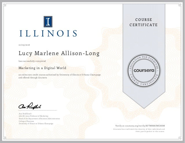 Coursera Digital Marketing Certificate