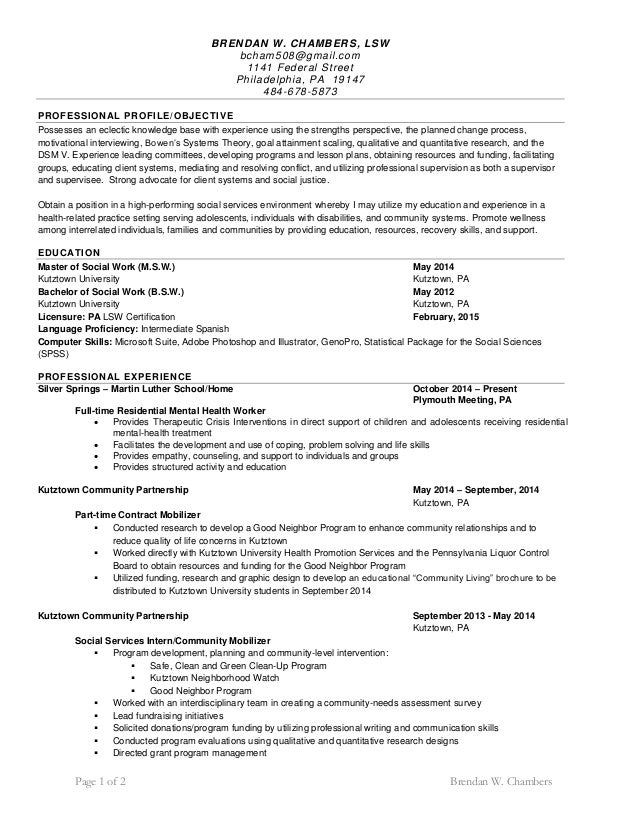 Social Work Resume Samples VisualCV Resume Samples Database Over CV And Resume  Samples With Free Download  Sample Social Work Resume