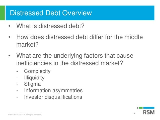 Distressed Debt Slides Melissa Brady