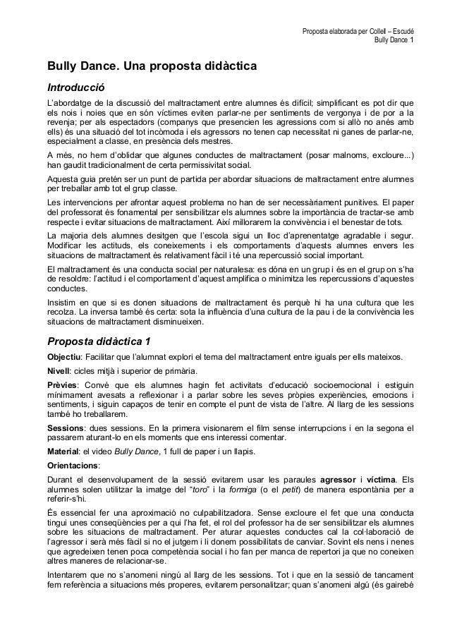 Proposta elaborada per Collell – Escudé                                                                                   ...