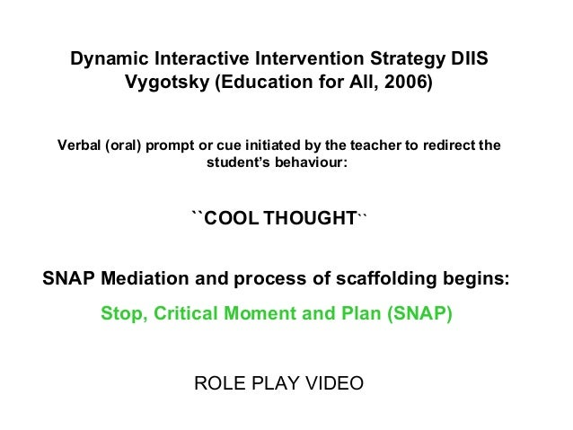 Vygotsky Classroom Design ~ Oasar snap and dynamic social skills