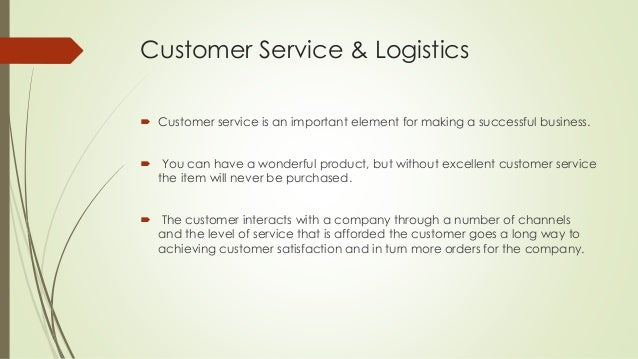 customer service in logistics R2 logistics offers a number of services and the capabilities needed to keep at r2 we pride ourselves on customer service every customer receives the service and.