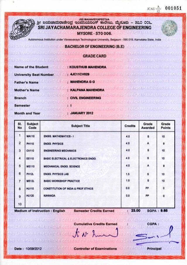 b e marks card
