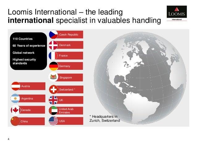 Corporate Presentation Loomis International 2016