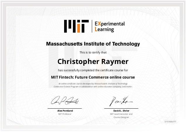 MIT Certificate