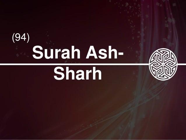94 Surah Ash Sharh Tafseer Midi