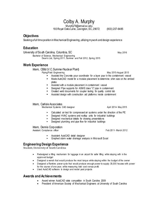 Colby A Murphy S Resume