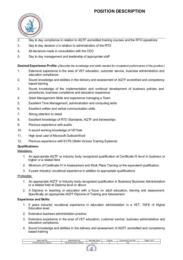 position description 2. Resume Example. Resume CV Cover Letter