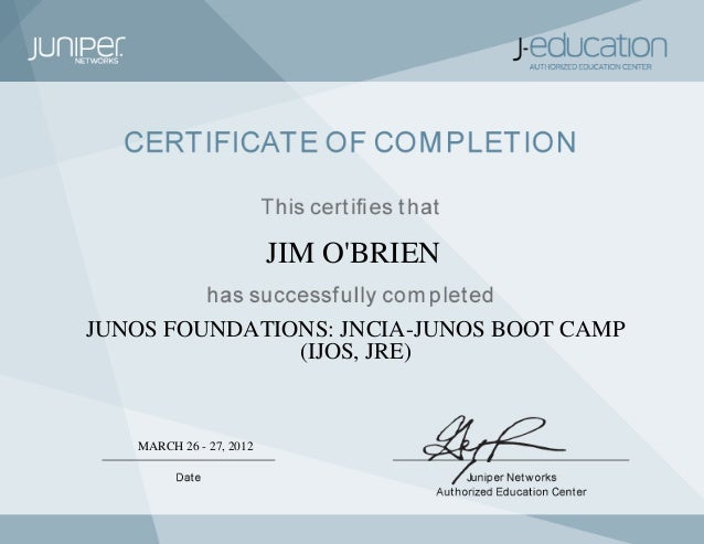 juniper junos jncia ijos certificate pdf slideshare upcoming author
