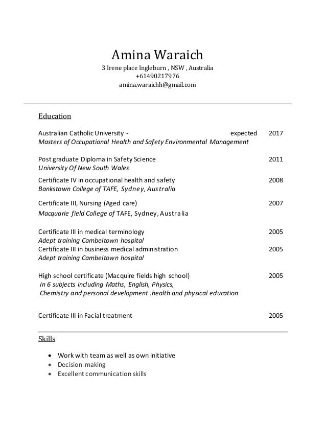 amina waraich resume  1