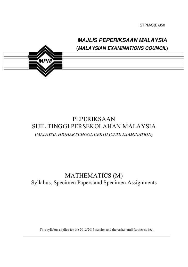 STPM/S(E)950                              MAJLIS PEPERIKSAAN MALAYSIA                             (MALAYSIAN EXAMINATIONS ...