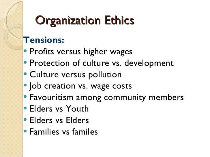 Ethics vs profit