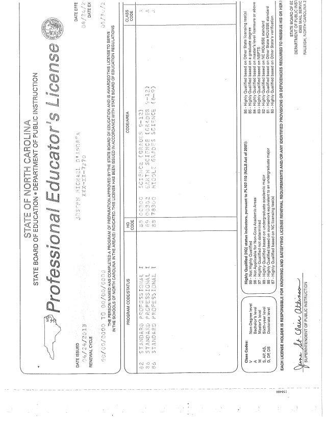 Nc Teaching License