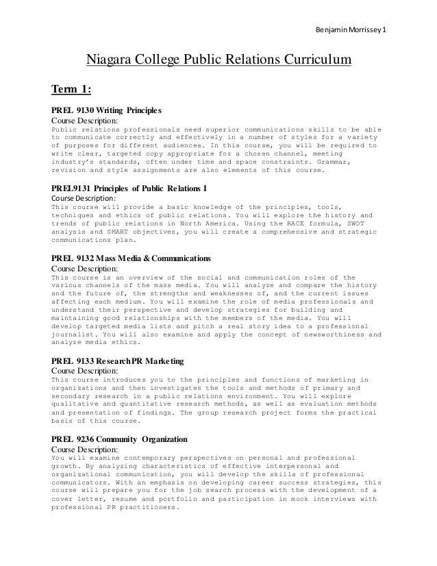 public relations resume sample