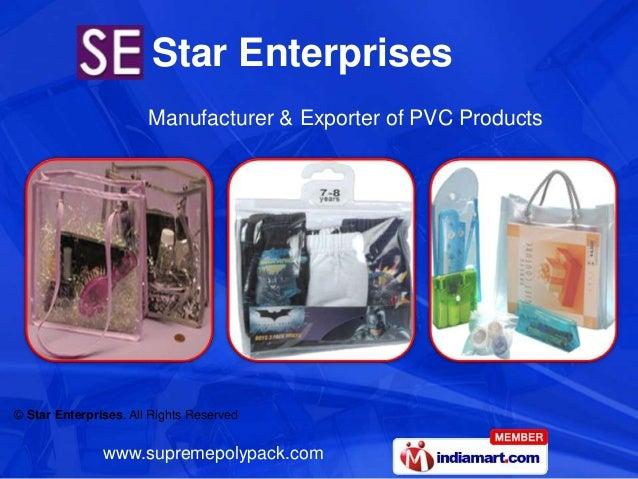 Star Enterprises                       Manufacturer & Exporter of PVC Products© Star Enterprises. All Rights Reserved     ...