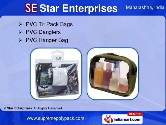 Star Enterprises   Maharashtra, India          PVC Tri Pack Bags          PVC Danglers          PVC Hanger Bag© Star En...