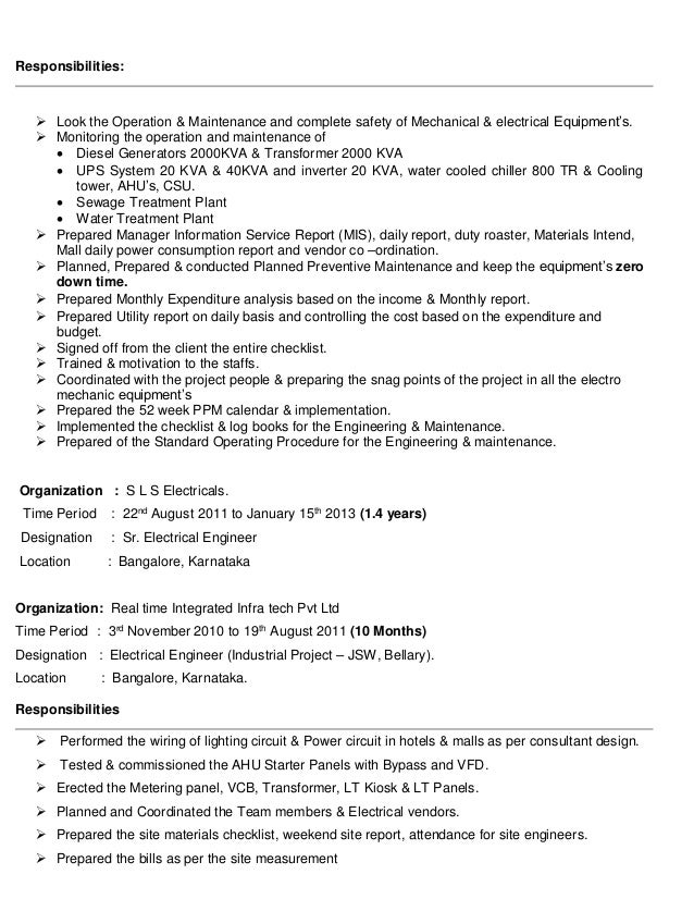 SlideShare  Facility Manager Resume