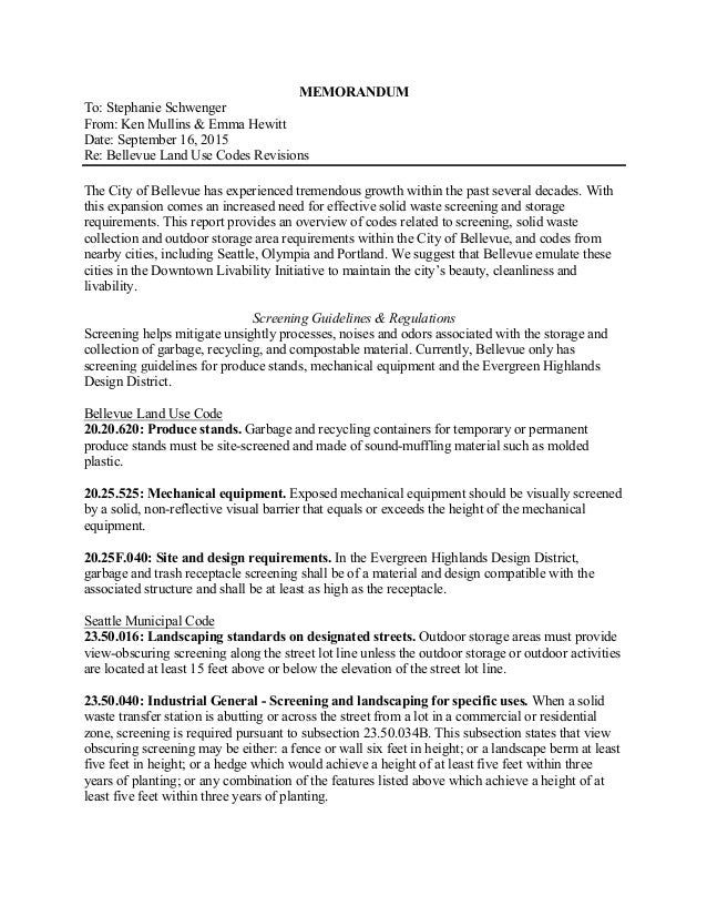 memorandum to stephanie schwenger from ken mullins emma hewitt date september 16