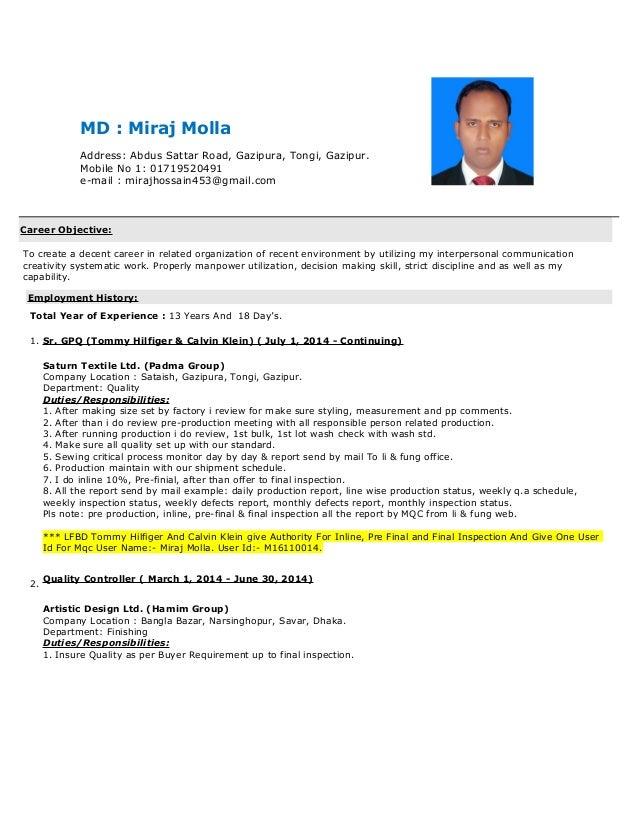Md Miraj Molla_CV Bd Jobs