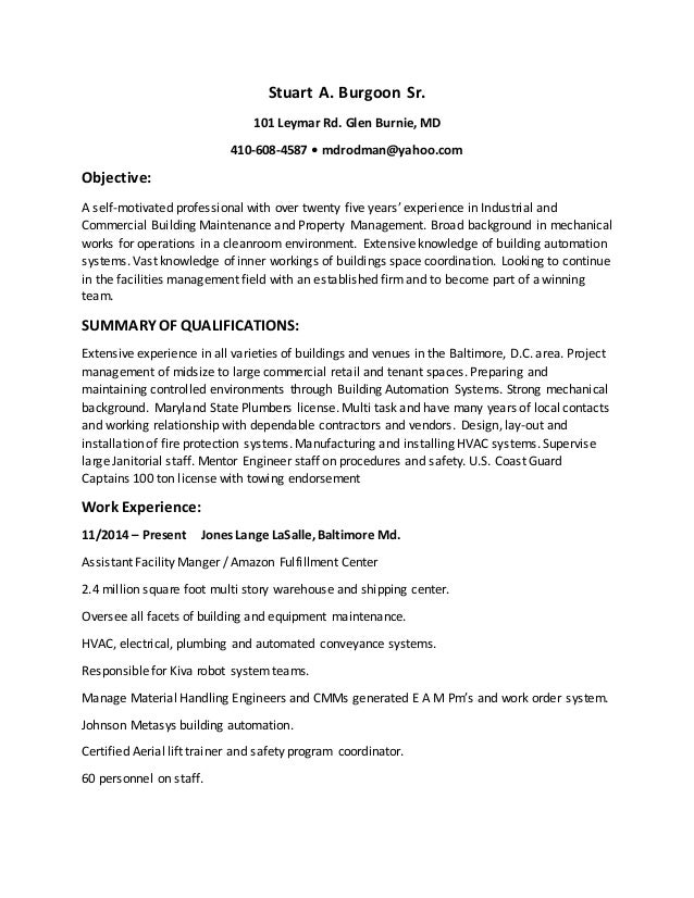 Stu'S Resume
