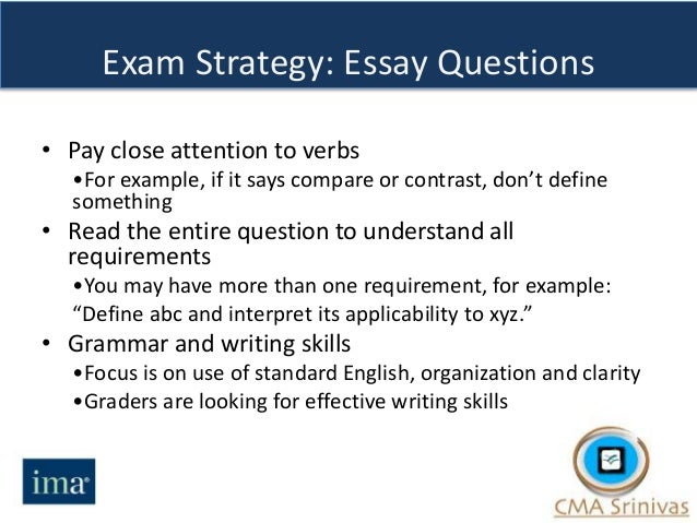 verbal exam questions essay Pcat test study guide 1 measured in the case of the pcat, math, reading, verbal, biology often, the questions will be presented in the form of word.