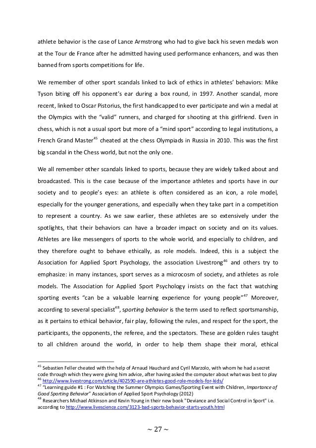 an analysis of the modern sport and the athlete role models The strategic utilization and integration of communication channels designed to achieve sport marketing an athlete and the respective sport modern law of.